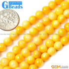 """6mm Colorful Round Gemstone Shell Beads Dyed Jewelry Making Loose Beads 15"""""""