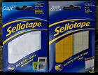 SELLOTAPE 140 FOAM PADS DOUBLE SIDED OR 24 PERMANENT STICKY PADS CRAFT SCHOOL