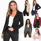 Womens Blazer Suit Top Jacket Casual Smart Ladies Jersey Office Evening Coat