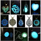 Glowing Steampunk Magic Locket Women Vase Oval Glow In The Dark Necklace Pendant