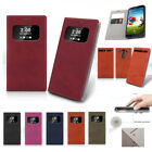 Card Pocket Quick Window View Flip Leather Wallet Case Cover For LG G6/G4/V10/G5