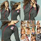 Chamela 15367 Women's Sexy Hoody Jacket Color Gray Talla S, reg.$84.40
