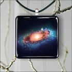 SPACE GALAXY ANDROMEDA SQUARE PENDANTS NECKLACE MEDIUM OR LARGE -wz44