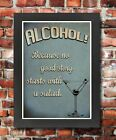FV1 Framed Vintage Style No Good Story Starts With A Salad Funny Poster A3/A4