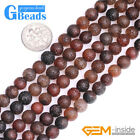 "Round Frosted Dream Lace Agate Jewelry Making Loose Beads 15"" Free Shipping"