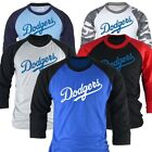 Mens Womens Los Angeles LA Dodgers 3/4 Sleeve Raglan Baseball Tshirts Jersey Top
