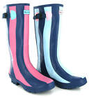 New Womens Wyre Valley Striped Rubber Wellingtons Boots Wellies Size 3-8 UK