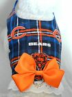 DOG CAT FERRET Travel Harness~Chicago BEARS NFL Football Team Spirt BOW & LACE