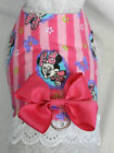 DOG CAT FERRET Harness~MINNIE MOUSE Character Disney w/ Dark PINK Bow & Lace