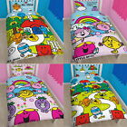 Mr Men and Little Miss Single Rotary/Panel Duvet Cover Bed Set Rainbow Numbers