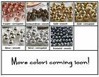 3mm Round Metal Spacer Beads 100 Choose Color