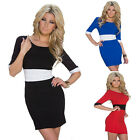 Women Sexy Bandage 1/2 sleeve Clubwear Bodycon Cocktail Party Evening Mini Dress