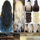 New Fashion Clip In Half Full Head Hair Extensions Curly Blonde Brown Black
