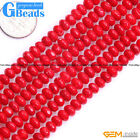 """4x6mm Rondelle Faceted Gemstone Jewelry Making Coral Beads Strand 15"""""""
