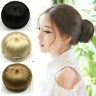 Womens Black/Brown Chignon Hair Bun Hairpiece Clip-In Hair Extension Updo Style