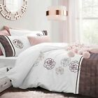 Luxury Sparkle Duvet Quilt Cover Bedding Set with Pillowcases Single Double King