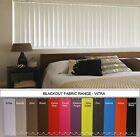 "*BARGAIN* blackout vertical blinds (headrail & 3.5"" slats) choice of 12 colours"