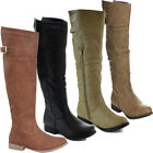 Top Moda Land-57 Buckle Riding Fashion - Knee-High Boots