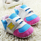 Baby Boy Girls Blue tennis shoes Sports Soft soles Crib Shoes Size 0-18 Months