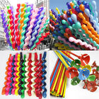 10/50/100 pcs Mixed Spiral Latex Balloons Wedding Kids Birthday Party Home Decor