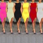 Women Sexy Summer Sleeveless Cocktail Evening Party Bodycon Short Mini Dress