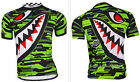 Men's Cycling Bicycle Bike Outdoor Sports Short Sleeve Shirt Jersey M-XXL Green