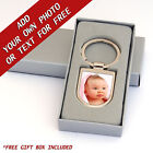 YOUR PHOTO or TEXT Resin DOMED Customised Key Ring Customisable Keyring