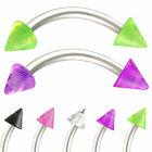 2Pcs curved bent barbell eyebrow piercing tragus jewelry 9IAV-PICK COLOR&SIZE