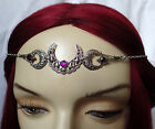 WICCA Pagan CRESCENT Triple Moon PRIESTESS Ritual Circlet Headpiece HALLOWEEN