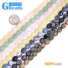 8x10mm Natural Assorted Stones Oval Beads For Jewelry Making Free Shipping 15""