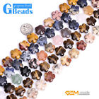 15mm Flower Shape Stone Loose Beads For Jewelry Making Free Shipping Strand 15""