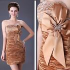 2015 Wedding Guest Beaded 50s Evening Housewife Gown Party Short Prom Mini Dress