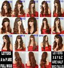 Brown Highlight Natural Long Curly Straight FULL WOMEN LADIES FASHION HAIR WIG