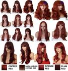 PLUM WINE Wig Natural Long Curly Straight Wavy Synthetic Wig Women Fashion Party