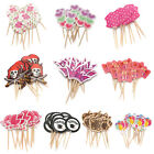 12 pcs Paper Birthday Party Cupcake Food Picks Sticks Toppers Cake Decoration