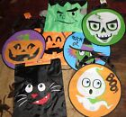 Spooky Village Pumpkin Witch Ghost Skull Ghost Monster Cat Trick or Treat Bag