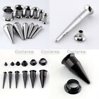 1x 8g-00g Surgical Steel 2 in 1 Taper Ear Flesh Tunnel Plugs Expander Stretcher