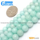 Round Faceted Gemstone Sky Blue Jade DIY Jewelry Making Loose Beads Strand 15""