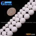 Round Gemstone Porcelain White Jade DIY Jewelry Making Loose Beads Strand 15""
