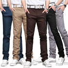 Fashion Stylish Mens Casual Skinny Slim Long Straight Business Pants Trousers