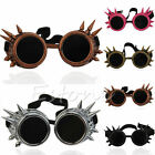 Welding Cyber Round Goggles Goth Rivet Steampunk Cosplay Antique Victorian Spike