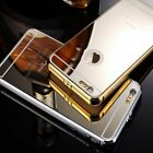 New Glossy Solid Phone Cover Metal Mirror Back Cases Shell For iPhone 6 & 6 Plus