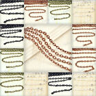 1/3/5pcs DIY Iron Flat Cable Unfinished Chain Fit Necklace Making 4m/12m/20m New