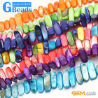 """10x20-25mm Freeform Gemstone Shell MOP Chips Loose Beads For Jewelry Making  15"""""""