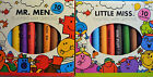 10 Jumbo Mr. Men or Little Miss Thick Coloured Crayons