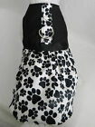 DOG CAT FERRET~Harness Dress Adorable BLACK & WHITE Pretty Paws Party Outfit