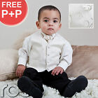 Baby Boys Ivory Suit Wedding Pageboy Prom Waistcoat Suits Age 0-3m - 12 years