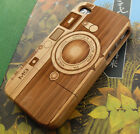 Genuine Natural Wooden Bamboo Hard Back Case Cover for i Phone 4 4S Camera M9