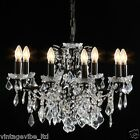Large Shallow 8 Branch French Style Bronze Chandelier Ceiling Light - Ava