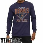 Chicago Bears Gridiron Vintage Long Sleeve T-Shirt - Blue